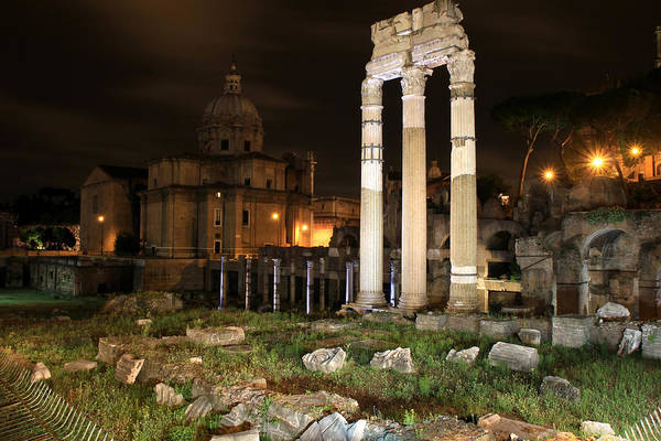 Photograph - Roman Ruins 1 by Andrew Fare
