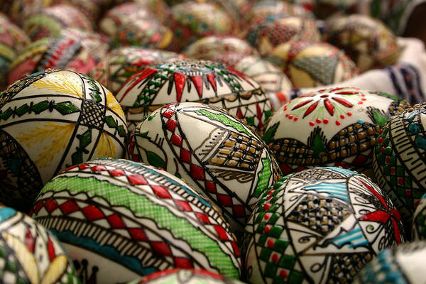 Photograph - Romanian Easter Eggs by Emanuel Tanjala