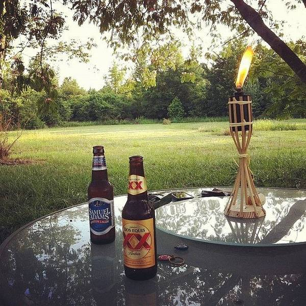 Beer Wall Art - Photograph - Romantic Candlelight Dinner  by Angie Davis