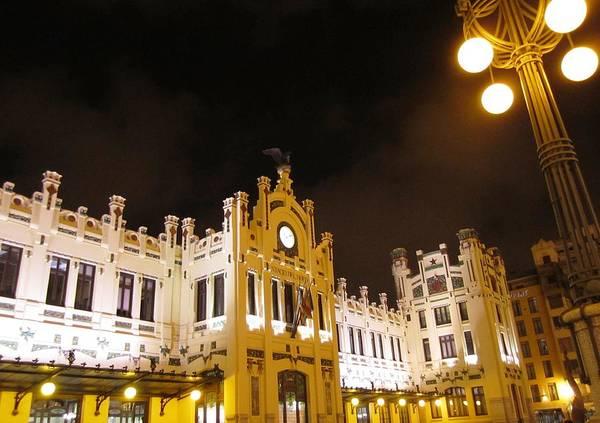 Photograph - Romantic Valencia Side Street Lights At Night IIi Spain by John Shiron