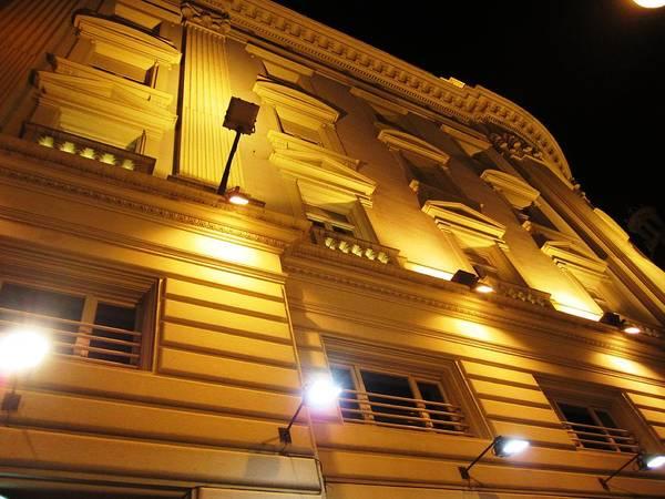 Photograph - Romantic Valencia Side Street Lights At Night Iv Spain by John Shiron