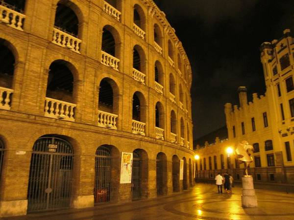Photograph - Romantic Valencia Side Street Lights At Night Spain by John Shiron