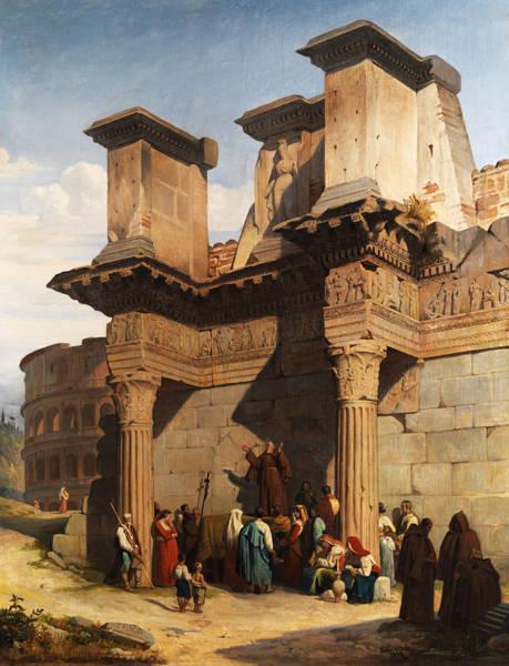 Ruin Painting - Rome Forum by Pierre Bonirote