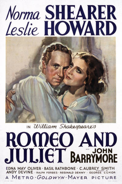 Romeo And Juliet Photograph - Romeo And Juliet, Leslie Howard, Norma by Everett