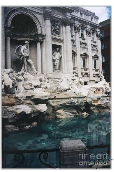 Trevi Fountain Digital Art - Rome's Trevi Fountain by Maxine Bochnia