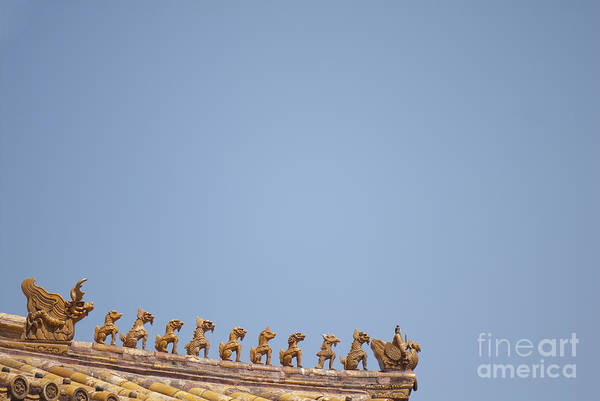 Adorn Photograph - Rooftop Statues by Sam Bloomberg-rissman