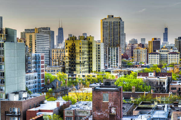 Wall Art - Photograph - Rooftops - Chicago Il by Drew Castelhano