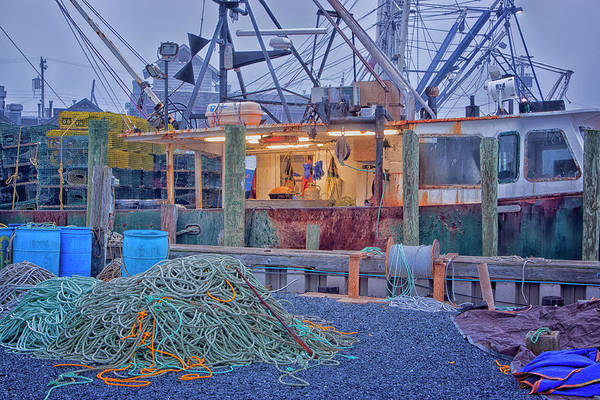 Photograph - Rope And Fishing Boat by Tom Singleton