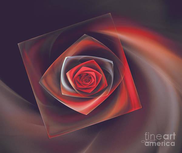 Digital Art - Rose In A Glass Box by Jutta Maria Pusl