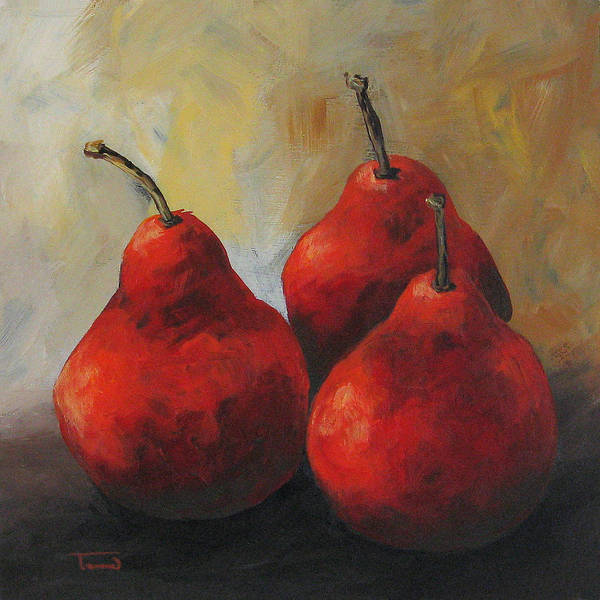 Wall Art - Painting - Rose Red Pears by Torrie Smiley