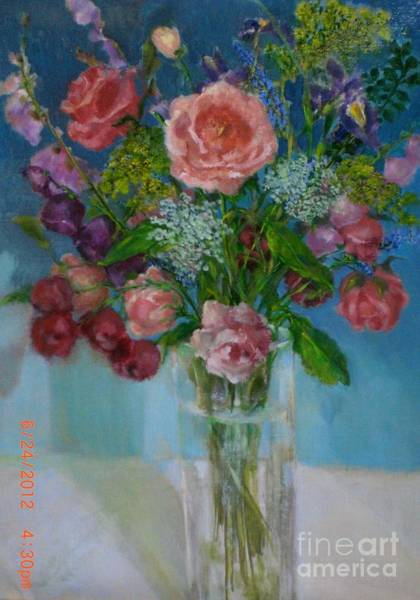 Snapdragons Painting - Roses Roses Roses by Kathleen Hoekstra