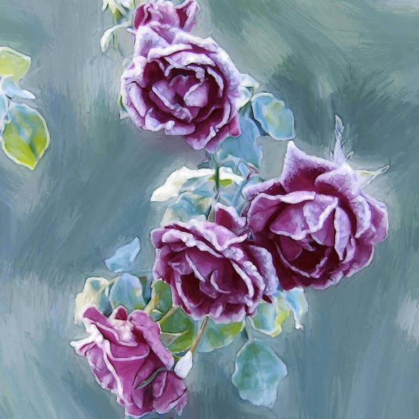 Wall Art - Painting - Roses by Steve K