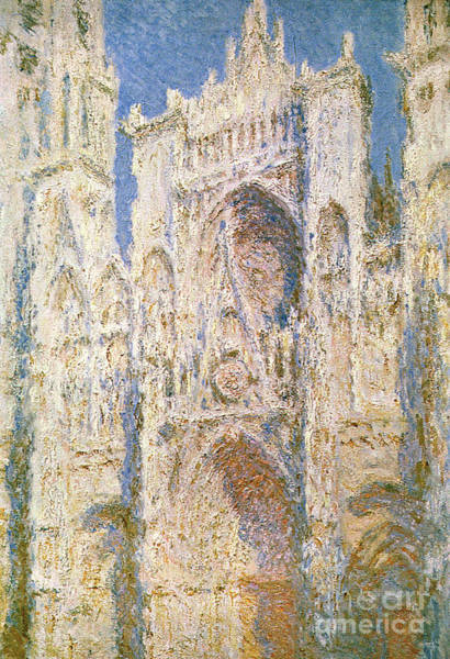 Portico Painting - Rouen Cathedral by Claude Monet