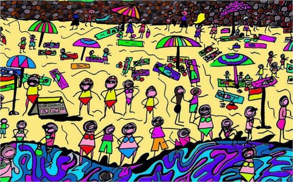 Wall Art - Digital Art - Rough Seas by Karen Elzinga