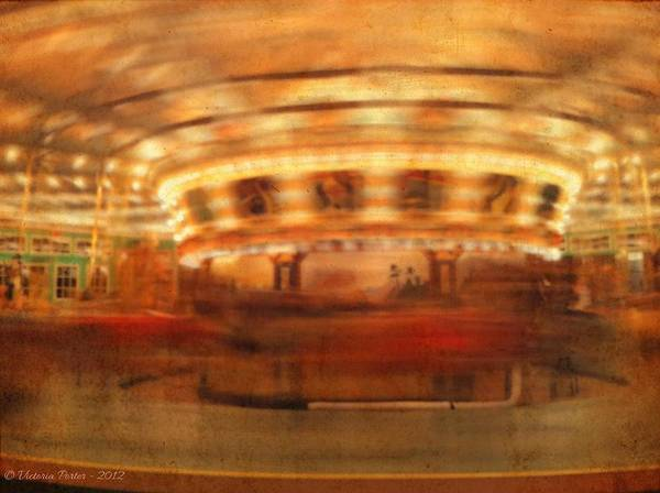 Photograph - Round And Round Goes The Dentzel Carousel At Glen Echo Park Md by Victoria Porter
