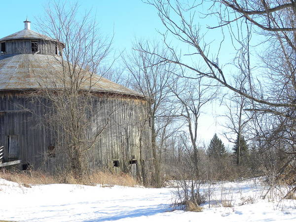 Photograph - Round Barn by Peggy  McDonald