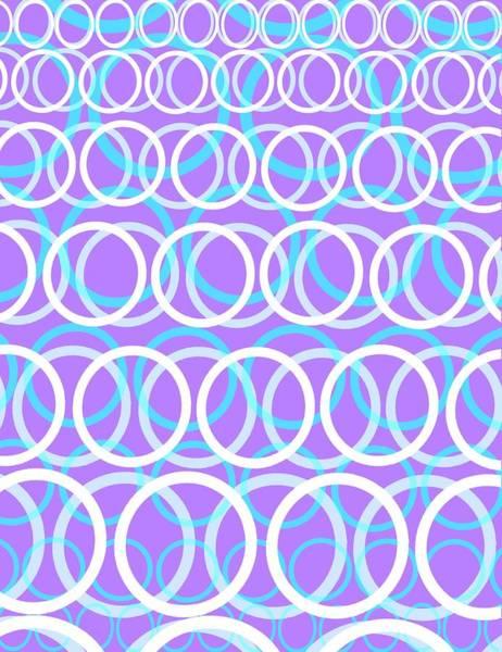 Cyan Digital Art - Round Cirlces by Louisa Knight