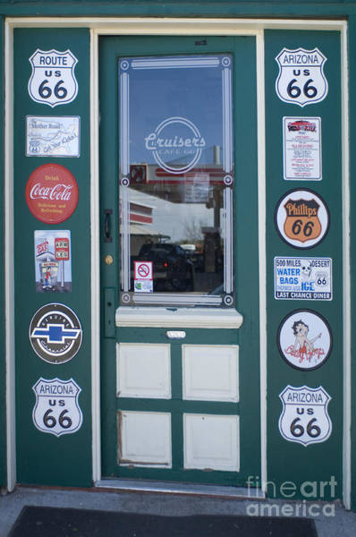Wurlitzer Photograph - Route 66 Doorway by Bob Christopher