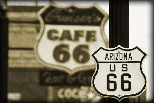 Historic Route 66 Photograph - Route 66 by Ricky Barnard