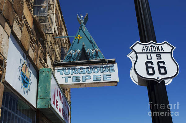Wurlitzer Photograph - Route 66 Turquoise Tepee by Bob Christopher