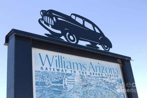 Wurlitzer Photograph - Route 66 Williams Sign by Bob Christopher