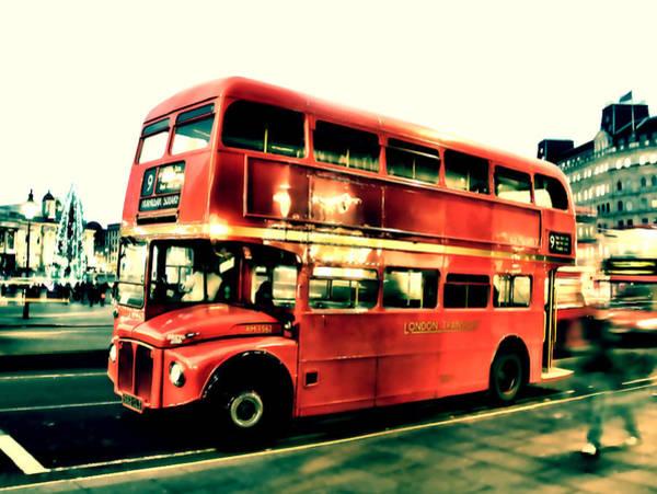 Trafalgar Photograph - Routemaster Retro Pop Art  by Jasna Buncic