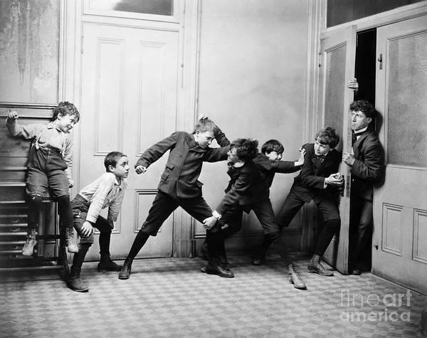 Photograph - Rowdy Schoolboys, C1900 by Granger