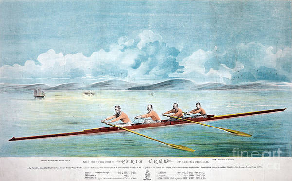 Rowing Wall Art - Photograph - Rowing Team, C1875 by Granger