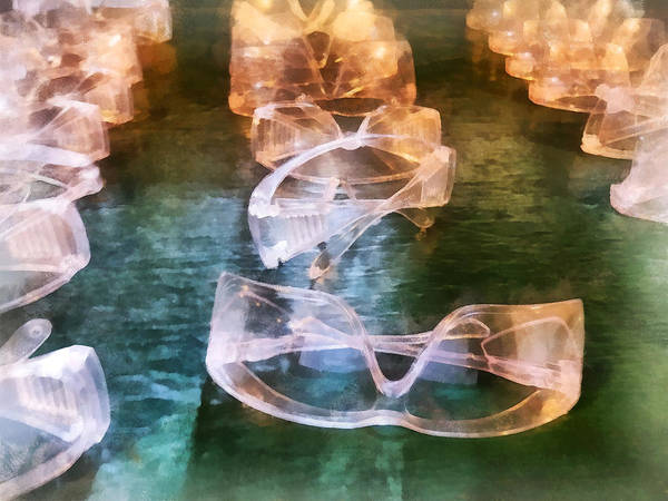 Photograph - Rows Of Safety Goggles by Susan Savad