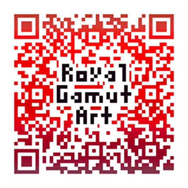 Digital Art - Royal Gamut Art - Qr Code by Tom Roderick