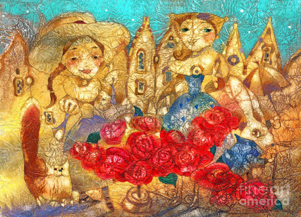 Wall Art - Mixed Media - Royal Roses by Svetlana and Sabir Gadghievs