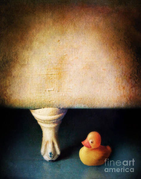 Rubber Ducky Photograph - Rubber Ducky And Claw Foot Tub by Jill Battaglia