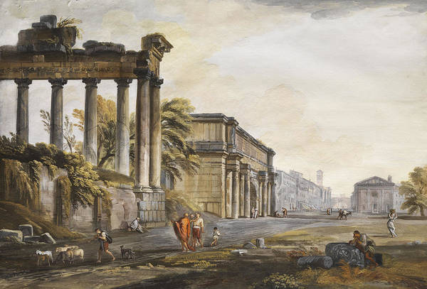 Allegory Wall Art - Painting - Ruins by Jean-Baptiste Lallemand