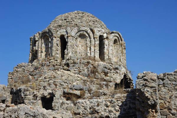 Photograph - Ruins Of Byzantine Basilica Alanya Castle Turkey by Matthias Hauser