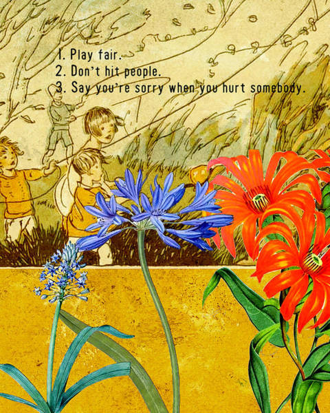 Classroom Digital Art - Rules For Play by Bonnie Bruno
