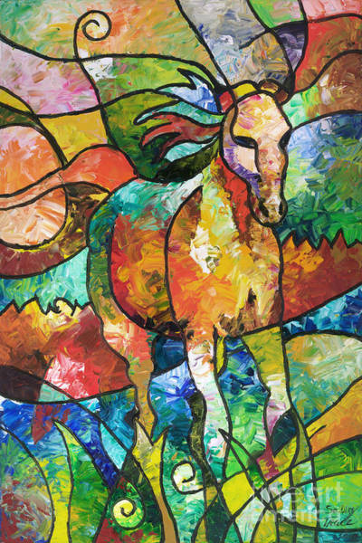 Painting - Run Free by Sally Trace