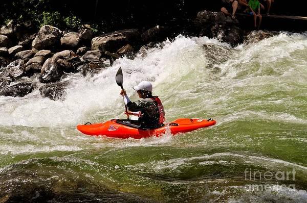 Photograph - Running Rapids by Les Palenik