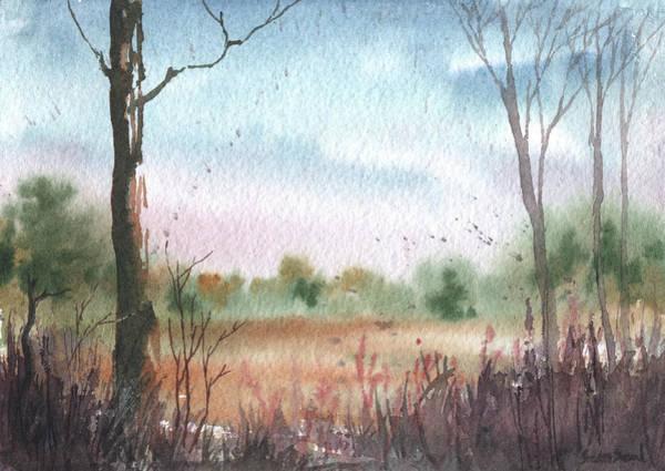 Wall Art - Painting - Rural Morning 5x7 by Sean Seal