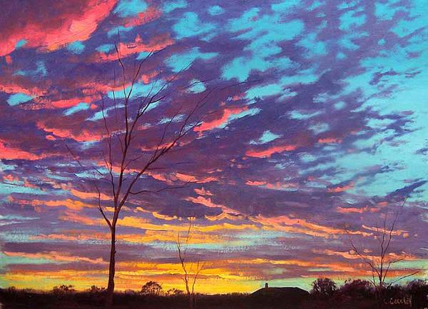 Sunrise Painting - Rural Sunset by Graham Gercken