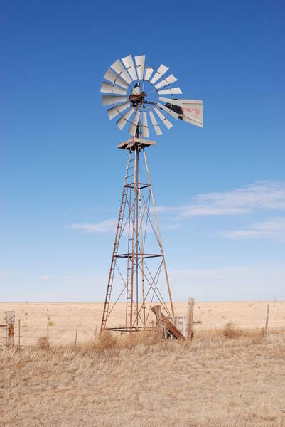 Photograph - Rural Windmill by Melany Sarafis