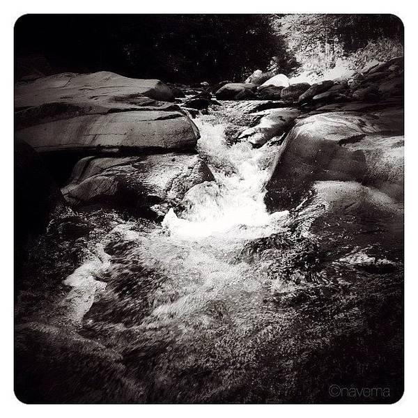 Monochrome Photograph - Rushing Waters by Natasha Marco