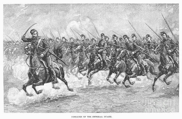 Imperial Russia Photograph - Russian Cossacks by Granger