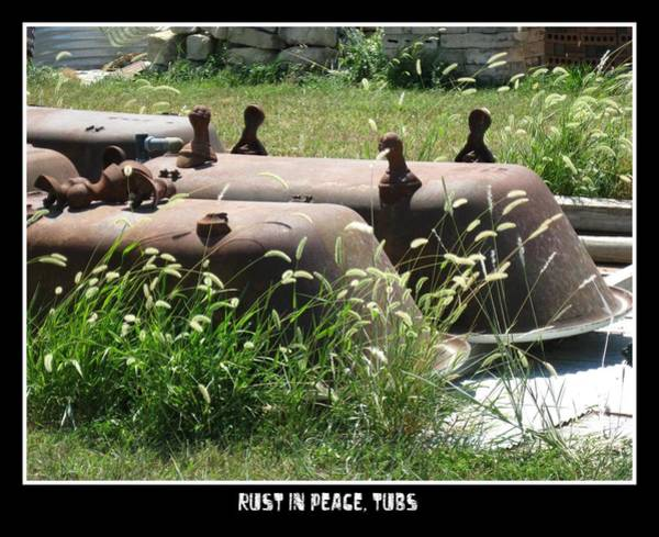 Photograph - Rust In Peace Tubs by David Dunham