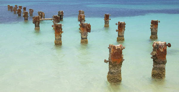 Photograph - Rusted Iron Pier Dock by David Letts