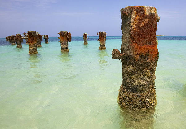 Photograph - Rusted Iron Pier II by David Letts