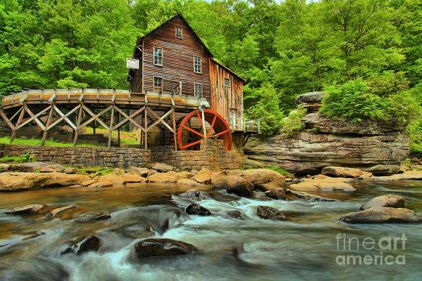 Photograph - Rustic Grist Mill by Adam Jewell