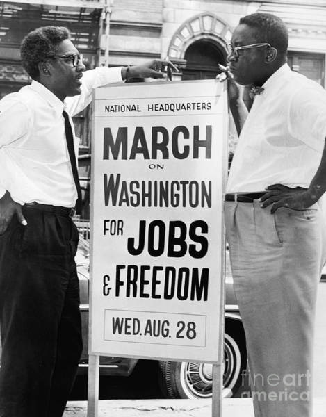 Photograph - Rustin And Robinson, 1963 by Granger
