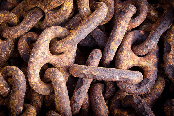 Rusty Chain Wall Art - Photograph - Rusty Anchor Chains In Key West by Adam Pender