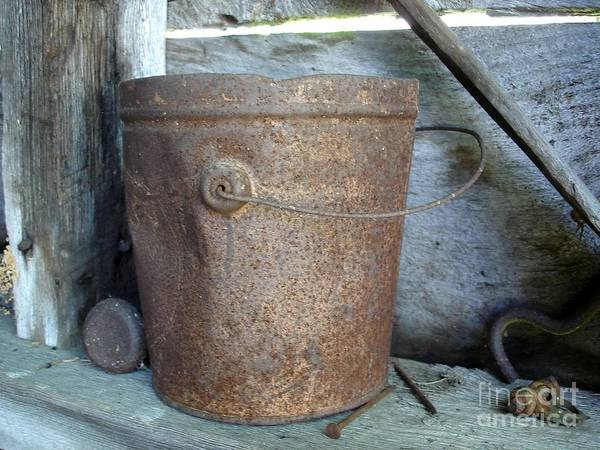 Rusty Bucket Art Print