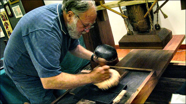 Photograph - Rusty Inking The Plate 2009 by Glenn Bautista